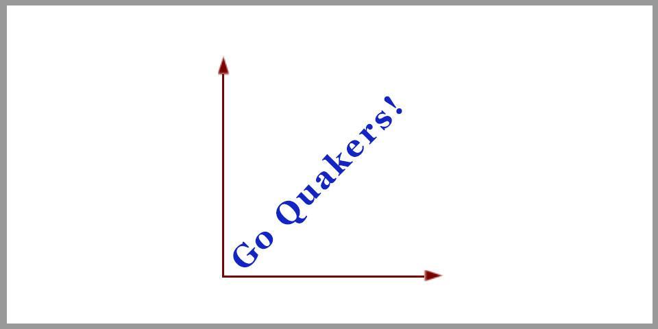 Go Quakers 45 degrees