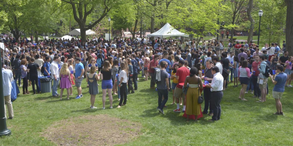 Campus green festivities