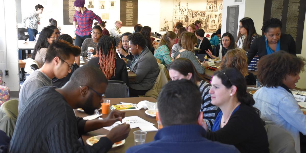 Diverse group at Implicit Bias Teach-in workshop