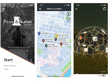 Penn and Slavery Project Augmented Reality App