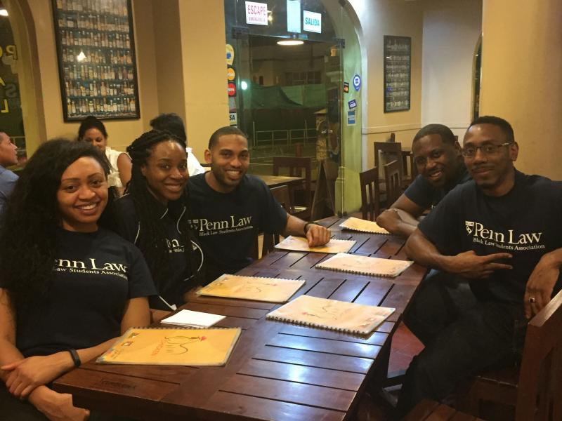 Penn Law students wear matching shirts as a team