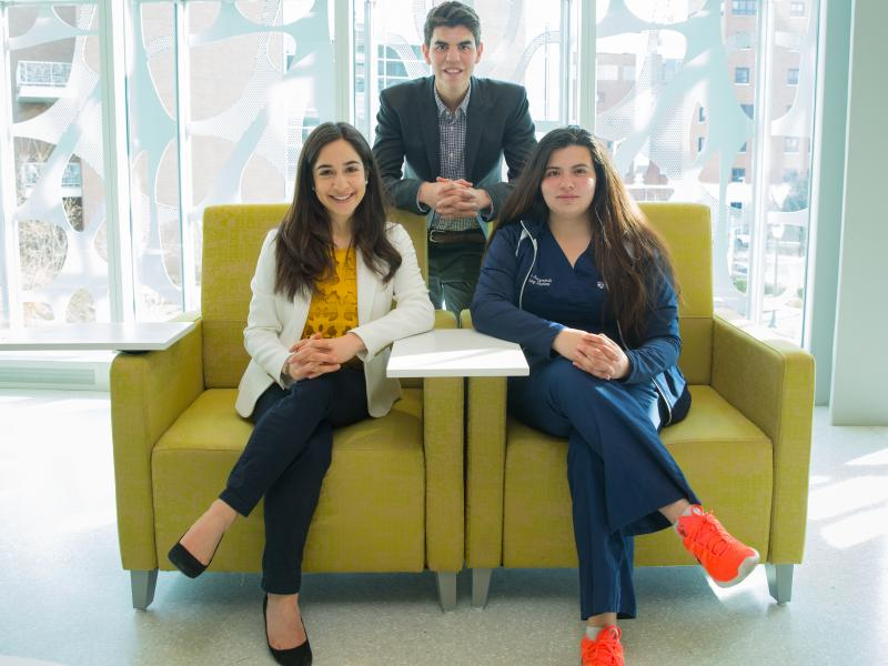 Three student winners of PEP Awards