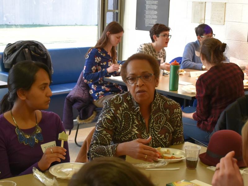 Two generations discuss at teach-in workshop